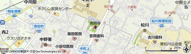 南照寺周辺の地図