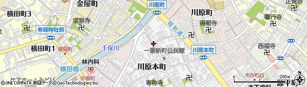 富山県高岡市川原本町周辺の地図