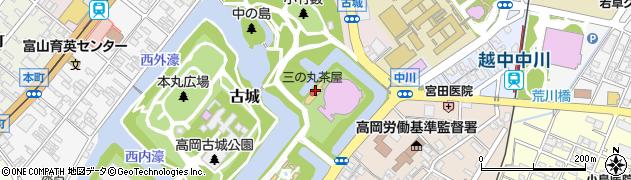 富山県高岡市古城周辺の地図