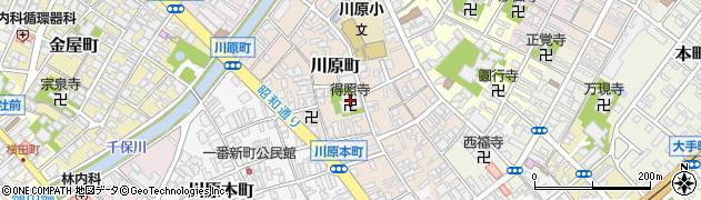 得照寺周辺の地図