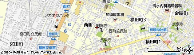 富山県高岡市西町周辺の地図