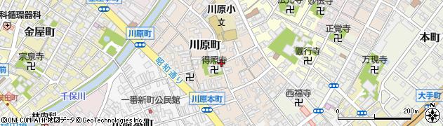 富山県高岡市川原町周辺の地図