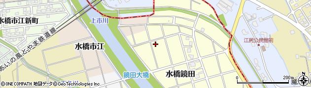 富山県富山市水橋鏡田周辺の地図