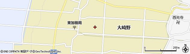 富山県滑川市大崎野周辺の地図