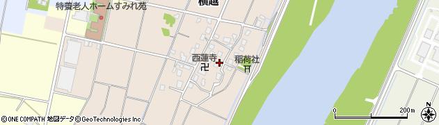 富山県富山市横越周辺の地図