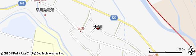 富山県滑川市大浦周辺の地図