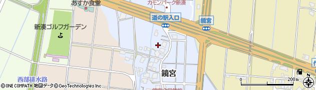富山県射水市鏡宮周辺の地図