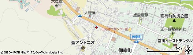 栃木県日光市下鉢石町周辺の地図