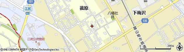 富山県滑川市菰原周辺の地図
