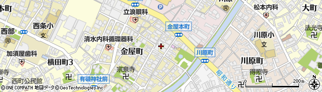 富山県高岡市金屋町周辺の地図