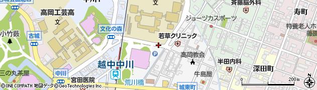 富山県高岡市中川園町周辺の地図