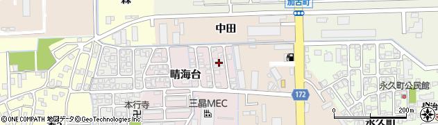 富山県富山市晴海台周辺の地図