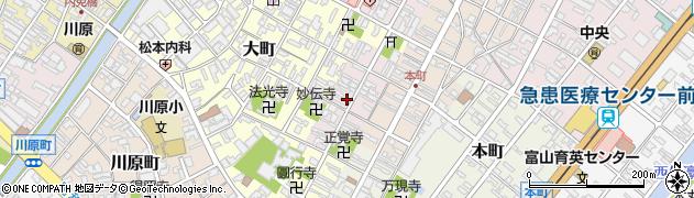 富山県高岡市袋町周辺の地図