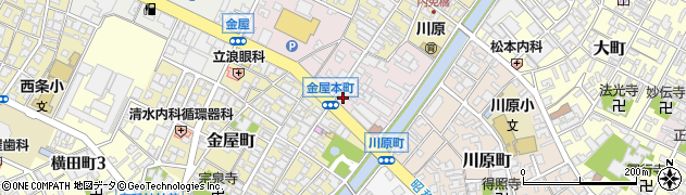 富山県高岡市金屋本町周辺の地図