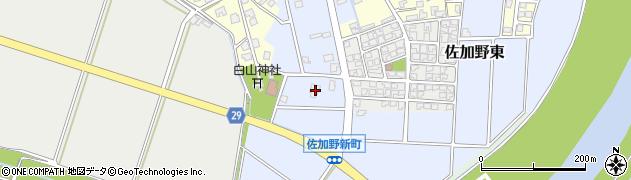 富山県高岡市佐加野東周辺の地図