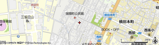 富山県高岡市瑞穂町周辺の地図