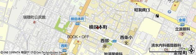富山県高岡市横田本町周辺の地図