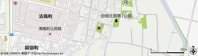 富山県富山市田畑周辺の地図
