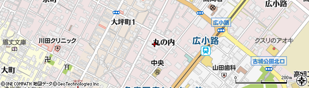 富山県高岡市丸の内周辺の地図