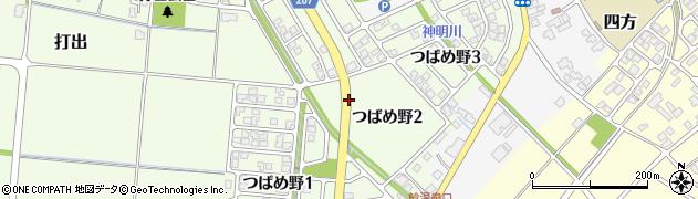 富山県富山市つばめ野周辺の地図