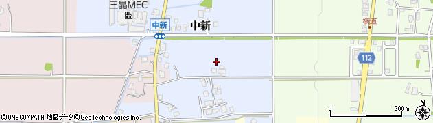 富山県滑川市中新周辺の地図