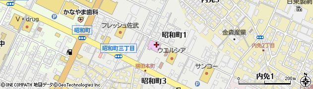 富山県高岡市昭和町周辺の地図