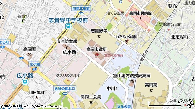 〒939-1110 富山県高岡市ICパークの地図