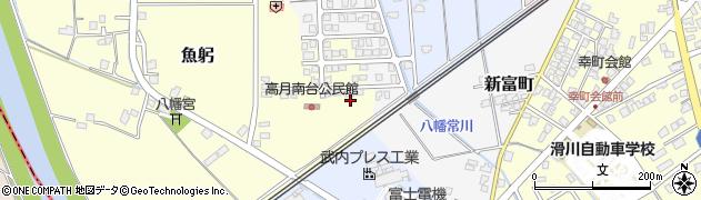 富山県滑川市高月南台周辺の地図