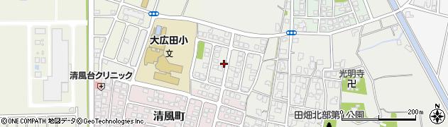 富山県富山市田畑北部周辺の地図