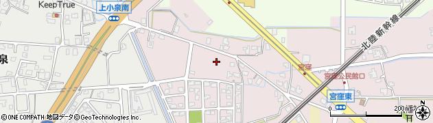 富山県滑川市宮窪台周辺の地図