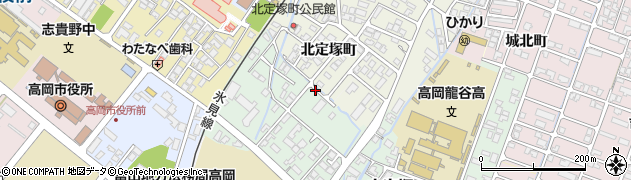 富山県高岡市古定塚周辺の地図