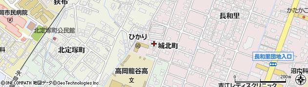 富山県高岡市城北町周辺の地図