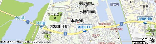 富山県富山市水橋今町周辺の地図