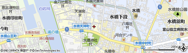 富山県富山市水橋稲荷町周辺の地図