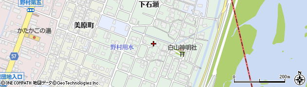 富山県高岡市下石瀬周辺の地図