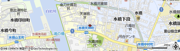 富山県富山市水橋東天神町周辺の地図