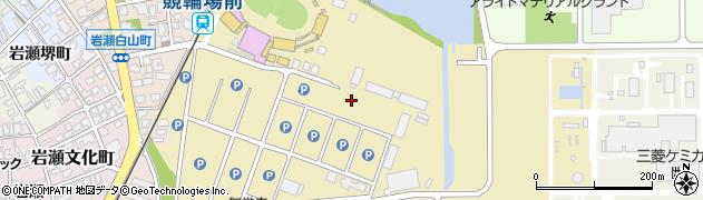 富山県富山市岩瀬池田町周辺の地図