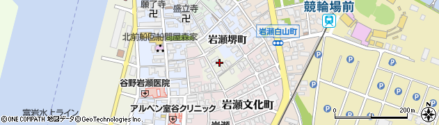 富山県富山市岩瀬表町周辺の地図