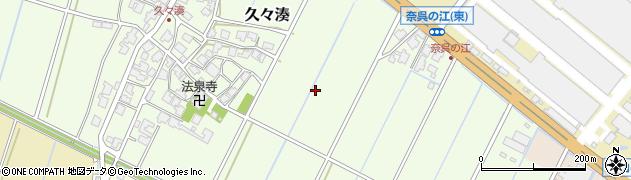 富山県射水市久々湊周辺の地図