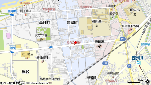 〒936-0071 富山県滑川市領家町の地図