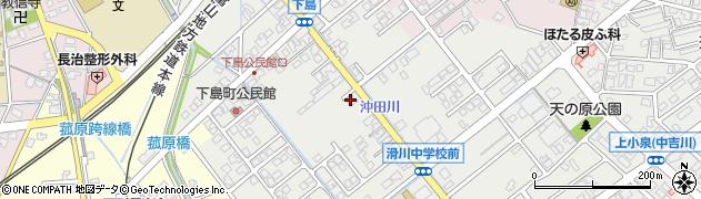 富山県滑川市下島周辺の地図