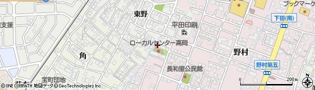 富山県高岡市野村東野周辺の地図