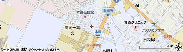 富山県高岡市本郷周辺の地図
