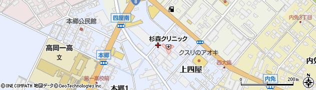 富山県高岡市上四屋周辺の地図