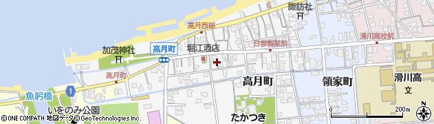 富山県滑川市高月町周辺の地図