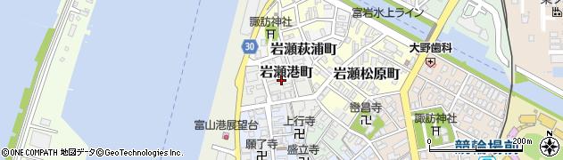 富山県富山市岩瀬港町周辺の地図