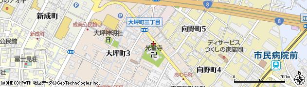 大坪町3丁目周辺の地図