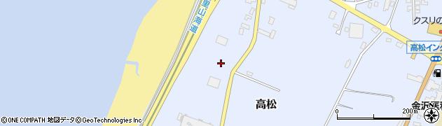 石川県かほく市高松甲周辺の地図