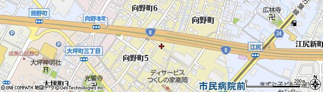 富山県高岡市向野町周辺の地図