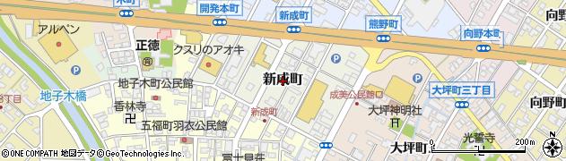 富山県高岡市新成町周辺の地図